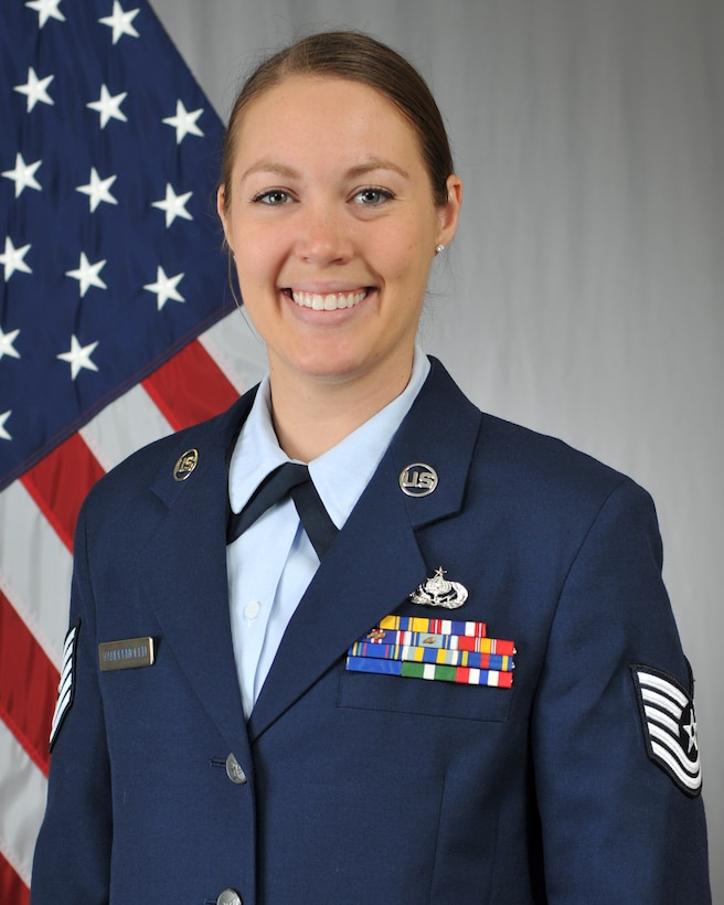 Tech. Sgt. Megan Vander Molen, Mission Support Group Contracting Specialist, has been selected as the 2018 Non-Commissioned Officer of the Year for the 185th Air Refueling Wing. Vander Molen will compete at the state level for a chance to go on to state completion. Official Photo by Senior Master Sgt. Vince De Groot.