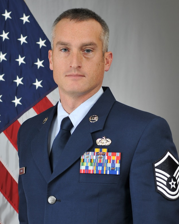 Master Sgt. Scott Schuler, the Mission Systems Support Superintendent with the 133rd Test Squadron in Fort Dodge, Iowa, has been selected as the 2018 Non-Commissioned Officer of the Year for the 185th Air Refueling Wing. Schuler will compete at the state level for a chance to go on to state completion. Official Photo by Senior Master Sgt. Vince De Groot.