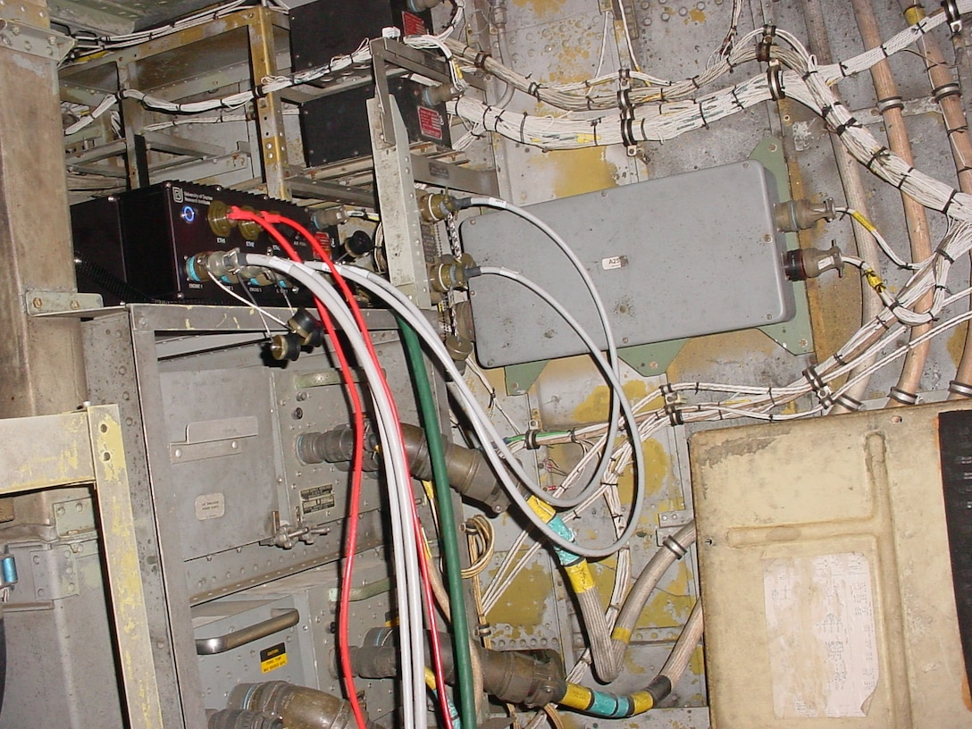 A Electrical Systems Tester hardware unit positioned inside an aircraft during a test. (Courtesy photo)