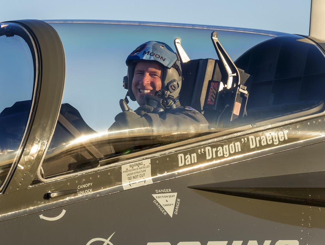 Maj. Gen. Patrick Doherty, 19th Air Force commander, gets ready for a T-X familiarization sortie at the Boeing facility in St. Louis Nov. 27, 2018.  The T-X trainer will help the service increase the lethality and readiness of future pilots in both under- and graduate-level training courses due to its advanced training capabilities.