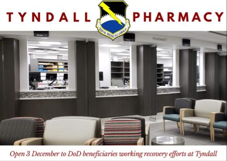 Open 3 December to DOD beneficiaries working recovery efforts at Tyndall
