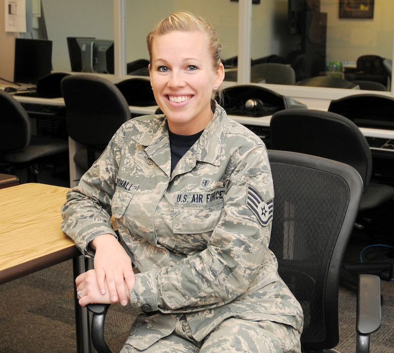 Staff Sgt. Meagan Marshall, 445th Force Support Squadron Education and Training Technician, is the 445th Airlift Wing December Spotlight Performer.