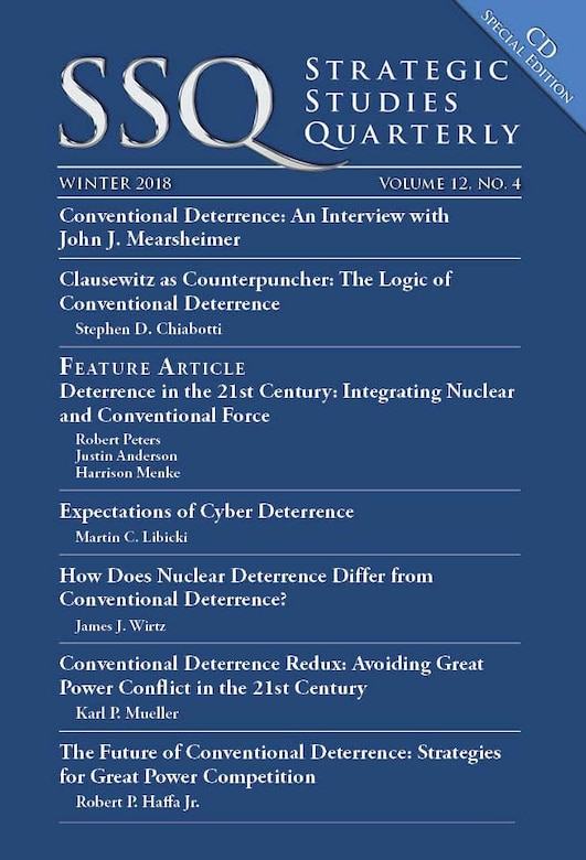 AU Press releases Conventional Deterrence Special Edition of SSQ