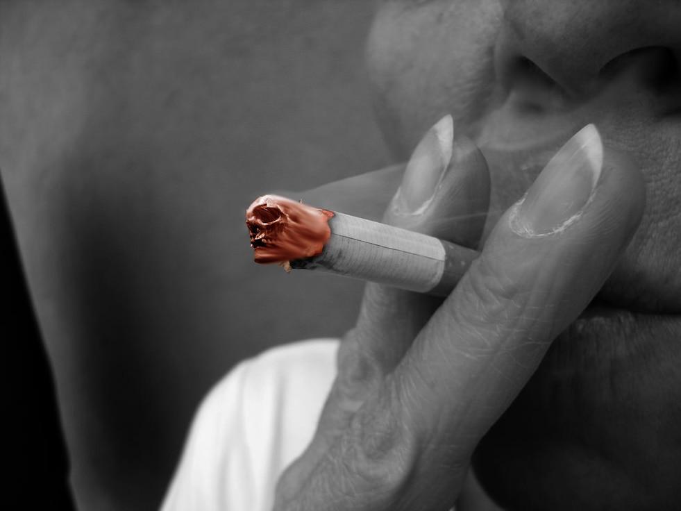 Photo illustration depicting smoking kills. (U.S. Air Force Photo illustration by Airmen 1st Class Braydon Williams)