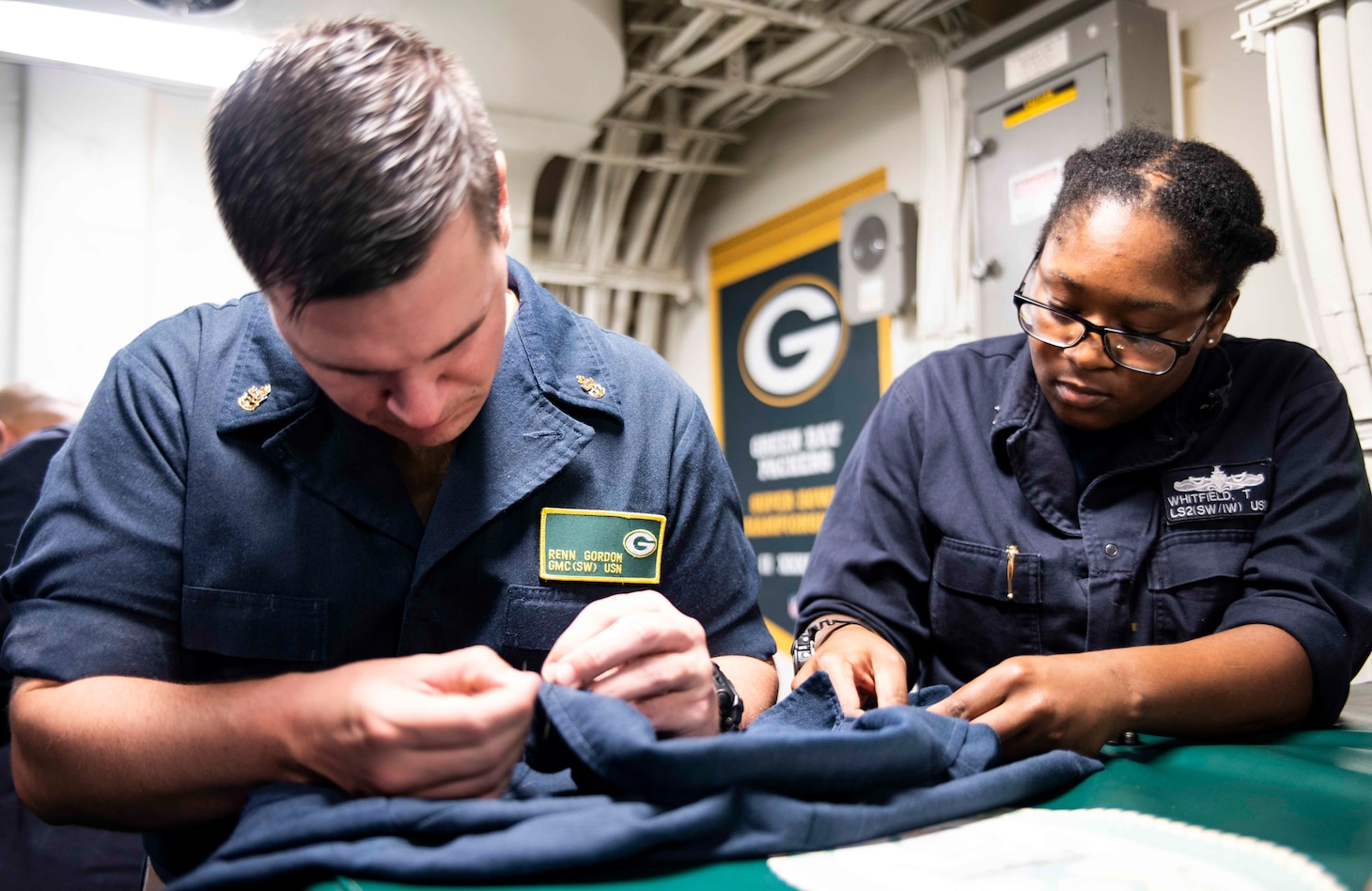 USS Green Bay celebrates classic Navy tradition