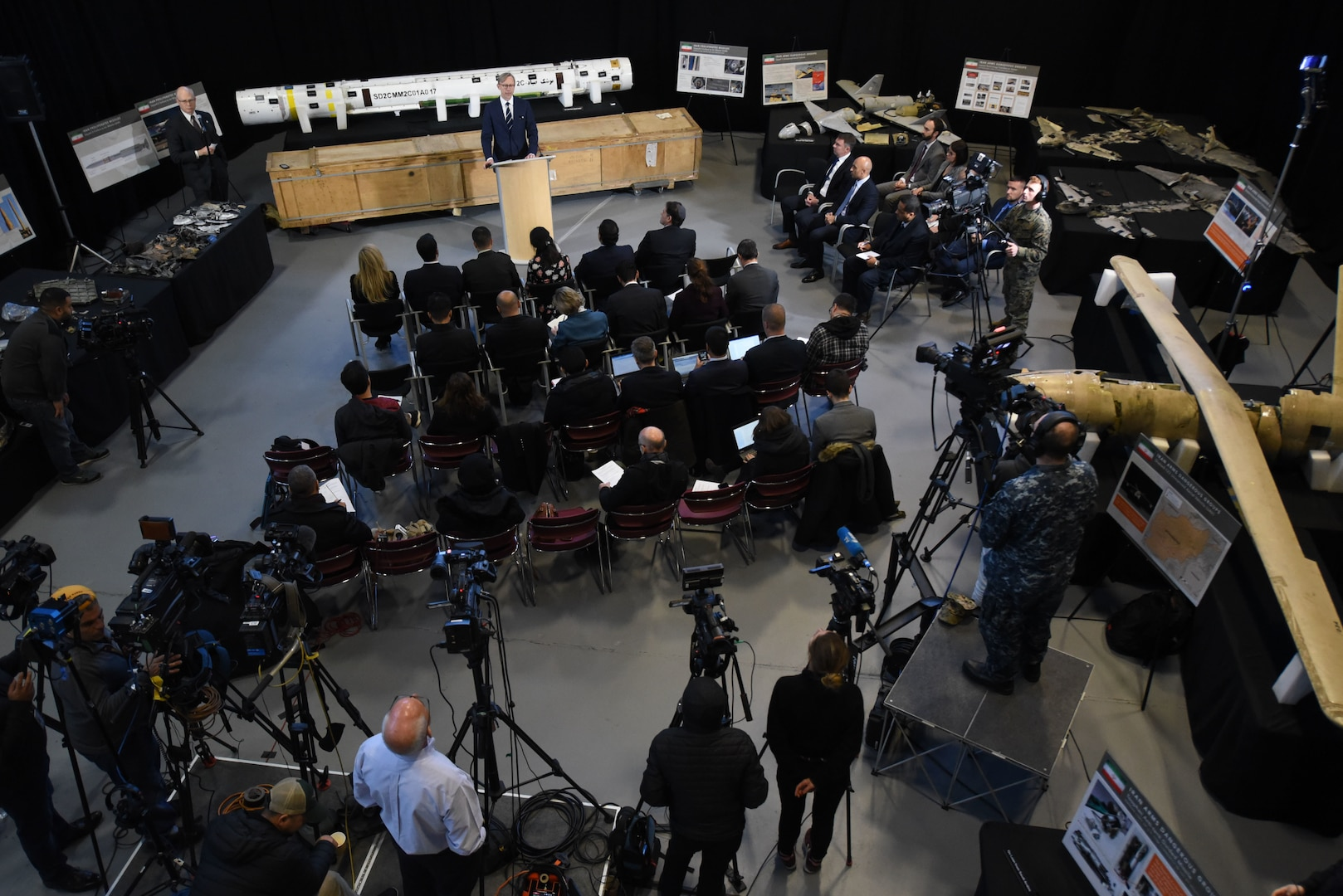 An overview of a press conference.