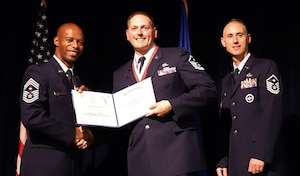 Master Sgt. David Griffith, 445th Maintenance Group first sergeant, was among 98 Airmen, including two others from the 445th Airlift Wing, who graduated from the Air Force's First Sergeant Academy Nov. 16, 2018.