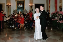 President and Mrs. Bush dancing to the music of the Marine Band, 1991 (courtesy of George Bush Presidential Library and Museum).