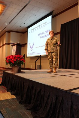 "The 2018 Air Force Medical Service Senior Leadership Workshop kicked off this morning at the National Conference Center in Leesburg, Va., with welcome remarks by Lt. Gen. Dorothy Hogg, Air Force Surgeon General, and Chief Master Sgt. G. Steve Cum, Chief, Medical Enlisted Force and Enlisted Corps Chief. They spoke about the future of the AFMS amidst the MHS transformation. ""We maintain something more precious than multi-million dollar airplanes, we maintain the Human Weapons System,"" said Chief Master Sgt. Steve Cum. (U.S. Air Force photo by Josh Mahler)"