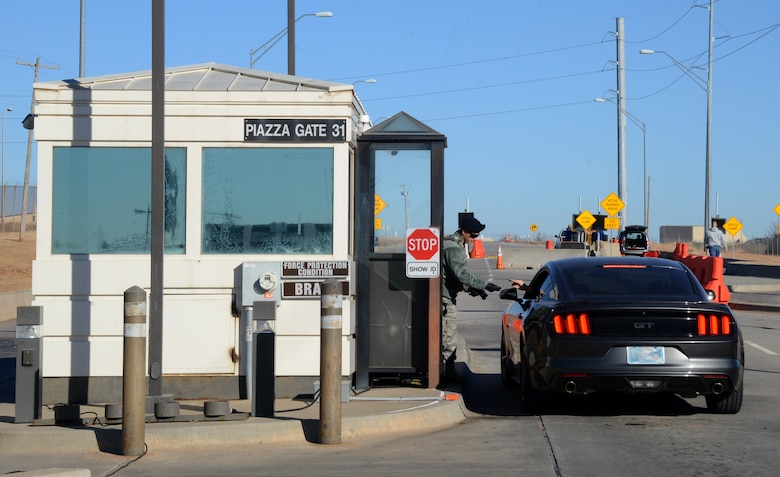 The Piazza Gate will serve as a temporary Truck Gate for the expected four-month duration of Tinker Air Force Base's four-gate construction project.