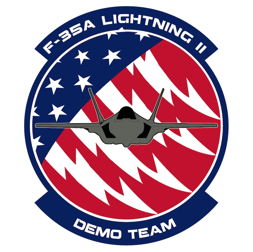 The F-35 Heritage Flight Team is officially transitioning to the F-35A Lightning II Demonstration Team for the 2019 airshow season. Their new 13 minute-long profile will highlight the F-35A's numerous capabilitites to include speed, agility, and high-g turning. (U.S. Air Force graphic by Richard McManus)