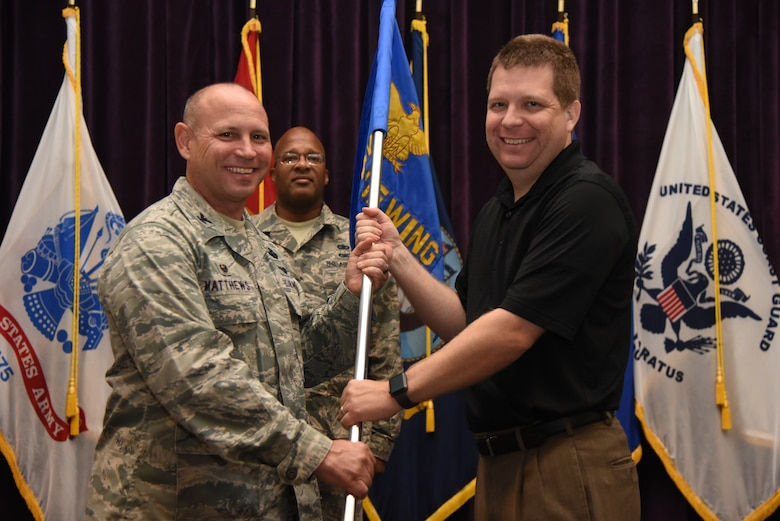 The 920th Rescue Wing at Patrick Air Force Base, Florida, hosted 60 community leaders for the advent of rides in its Air Force combat-search-and-rescue aircraft December 1 during a special day recognizing civilian employers of Reserve Citizen Airmen and five community leaders who were inducted as honorary commanders. Both occasions were combined during the December unit training assembly to bolster relations between community leaders, civilian employers and service members. (U.S. Air Force photo by SrA Brandon Kalloo Sanes)
