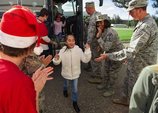 Vandenberg Airmen await the arrival of the children during Operation Kids Christmas at the Pacific Coast Club at Vandenberg Air Force Base, Calif. Dec. 1, 2018. Vandenberg hosts the 59th annual Operation Kids Christmas here, expecting 200 kids from nearby cities to partake in the planned games, crafts, lunch and Christmas gifts.