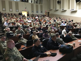 Exercise Vibrant Response 2019 (VR-19) Mid Planning Meeting is now underway at Camp Atterbury, Ind. (CAIN). Some 150 active and reserve joint military members; DoD civilians; contractors and interagency representatives like FEMA from more than 50 units or organizations are preparing for VR-19. The 16 Joint Task Force Civil Support planners are completing milestones toward confirming their operational CBRN readiness and capabilities. US Army North executes VR-19, a Command-Post Exercise (CPX) from April 22 to May 22 at CAIN and in Michigan.(DoD photo by Air Force Lt. Col. Karen Roganov, director of JTF-CS Public Affairs/ released)
