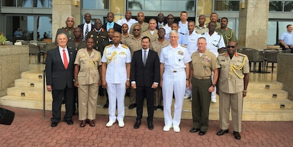 Group photo of the participants of the Caribbean Nations Security Conference (CANSEC) in Trinidad and Tobago, Dec. 5, 2018.