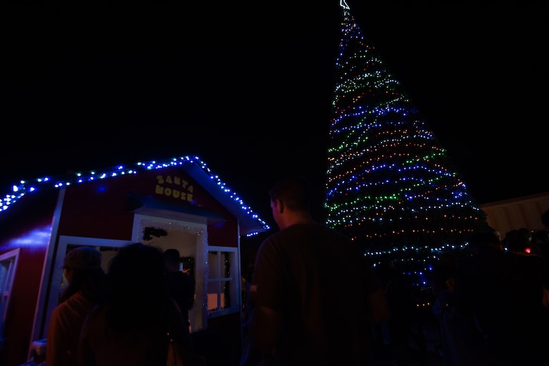 Okinawan families celebrate holiday season with Team Kadena during Tinsel Town