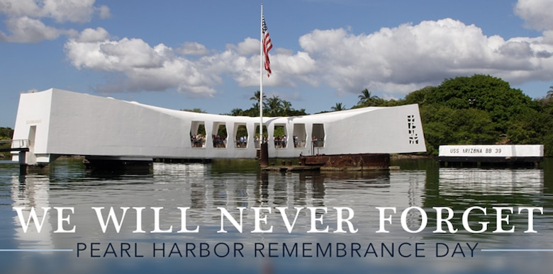 On the 77th anniversary of the attacks on Pearl Harbor and the Hawaiian Air Force, precursor to the Seventh Air Force, Airmen honor the 600 casualties lost. The newly created HAF suffered the loss of more than 50 percent of their aircraft, buildings and support facilities. Still, 14 HAF pilots were able to airborne in P-40s and P-36s and claimed 10 confirmed kills during the attack (Courtesy Graphic)