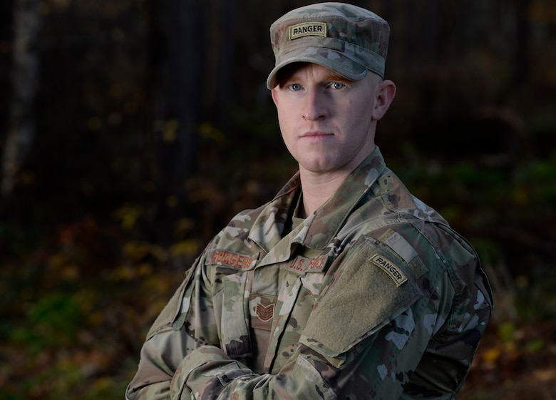 U.S. Air Force Tech. Sgt. Dallas Rodgers, 701st Munitions Support Squadron NCO in-charge of operations, graduated from the U.S. Army Ranger School November 16, 2018. During the 61-day course, Rodgers and his teammates trained to the point of exhaustion, pushing the limits of their minds and bodies.