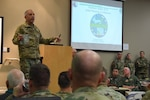 Maj. Gen. Gregory Vadnais, Michigan National Guard adjutant general, speaks at the Northern Strike 19 Initial Planning Conference (IPC), Fort Custer Training Center, Mich., Dec. 4, 2018