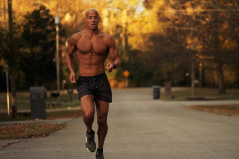 David Goggins running.
