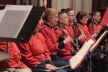 """On Dec. 5, 2018, """"The President's Own"""" Marine Chamber Orchestra participated in the state funeral in honor of former President George H.W. Bush at the Washington National Cathedral."""