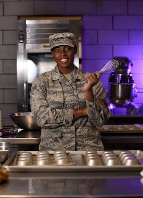 Airman 1st Class Alexis M. Taylor is the lead baker at the Ozark Inn at Whiteman Air Force Base.