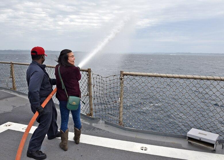 Blue Ridge/C7F Team Hosts Friends, Family for Cruise