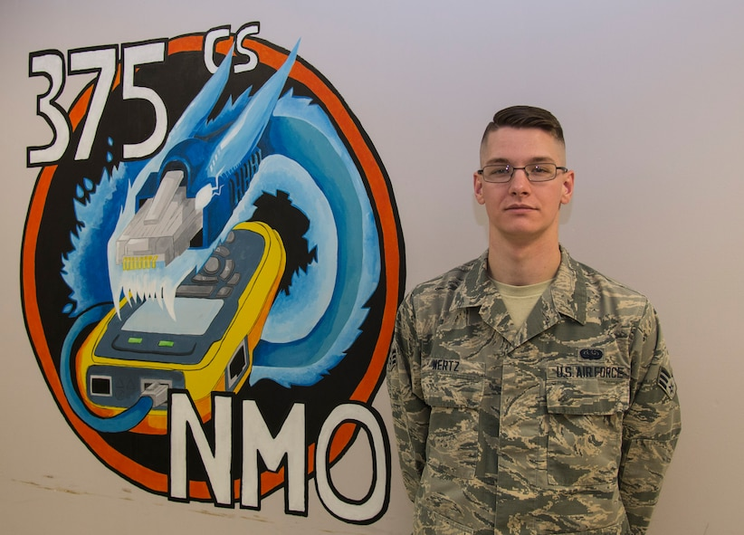 :  Senior Airman Dylan Wertz, 375th Communications Squadron, is this week's Showcase Airman! Wertz has become known as a champion of innovation in his time at the network management office.  He led a team of three Airmen in decommissioning six servers, three uninterruptible power supplies, four web proxies, one tape backup drive, and one network switch in support of the NIPR boundary upgrade. The Scott AFB NIPR boundary had bandwidth limitations that governed the network to 1 GB.  Wertz was part of a team that analyzed the systems and eliminated equipment that was incapable of higher bandwidth. This boundary upgrade eliminated a bottleneck issue that allowed Scott AFB to participate in the Department of Defense Enterprise IT as a service initiative.