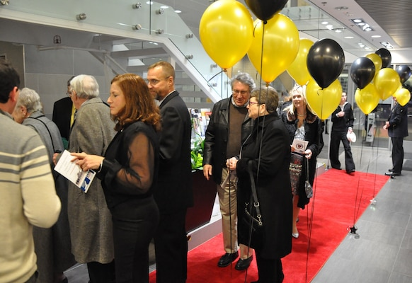 IMAGE: Guest arrive on the red carpet at the Dahlgren Centennial Movie Premier, Nov. 27.