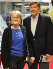 IMAGE: Dr. Rob Gates and his wife arrive at the Dahlgren Centennial Movie Premier, Nov. 27.