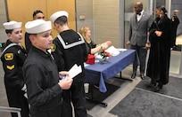 IMAGE: U.S. Naval Sea Cadets assist with the Dahlgren Centennial Movie Premier, Nov. 27.