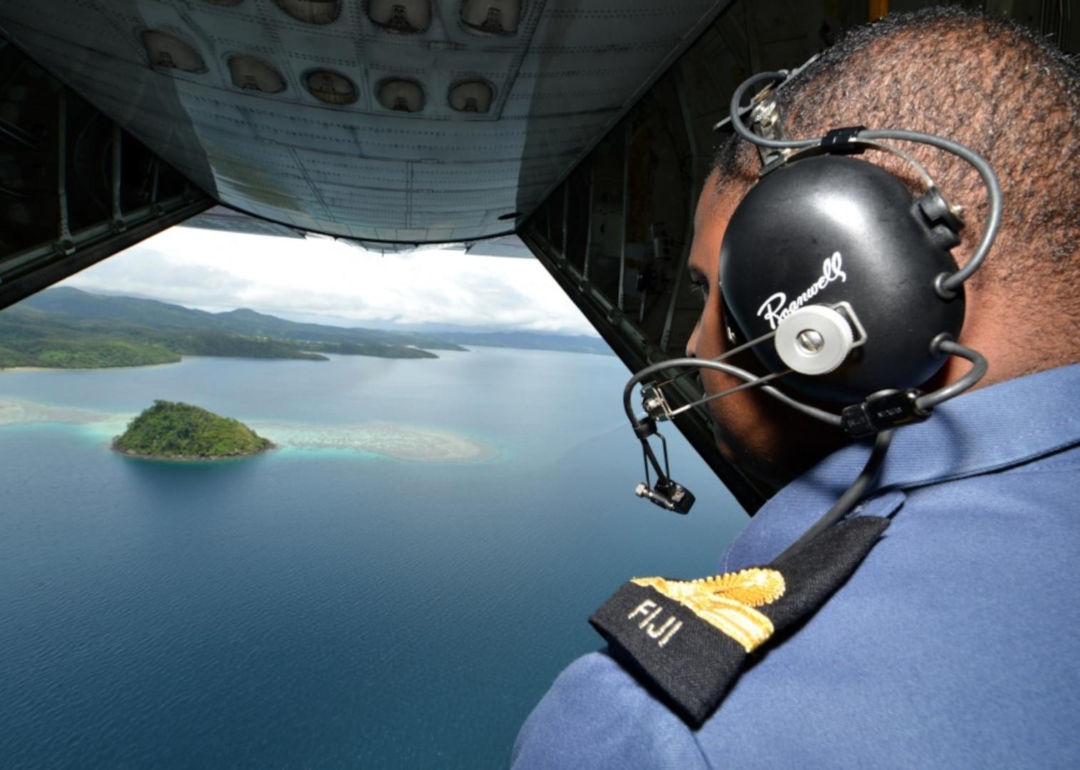 Fijian Shiprider Joins Coast Guard Aircrew on Patrol