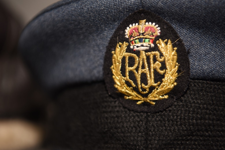 The Royal Air Force uniform emblem sits displayed in Hangar I at the RAF Museum, London, England, Nov. 30, 2018. Formed towards the end of World War I on April 1, 1918, the RAF is the oldest independent air force in the world. The RAF played a huge part during World War II, most famously during the Battle of Britain, which lasted from July 1940-October 1940. (U.S. Air Force photo by Airman 1st Class Brandon Esau)