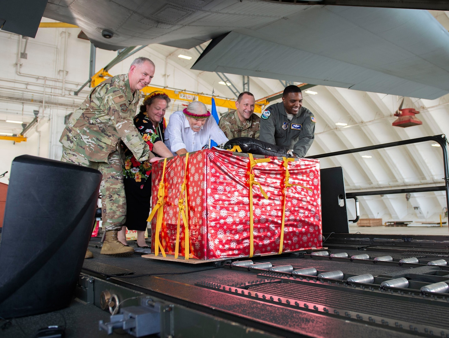 Operation Christmas Drop Commemorated With Push Ceremony