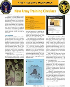 Publication of Army Reserve Marksman is directed by Army Regulation 140-1.