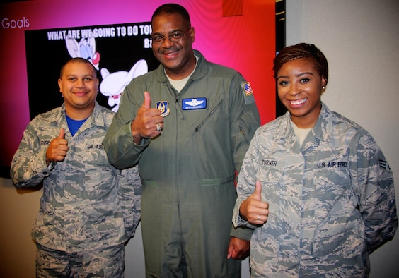 All thumbs up for 932nd Airlift Wing's Force Support Squadron