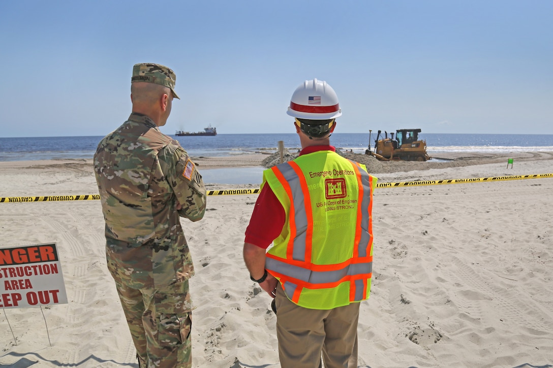 MG Spellmon views beach renourishment