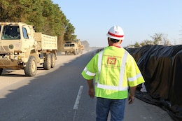 Transporting Hesco Barriers