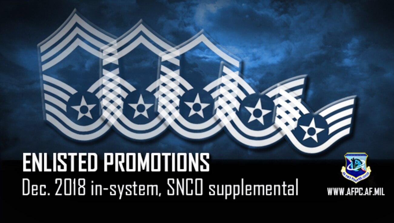 December enlisted in-system, SNCO board supplemental promotion list released