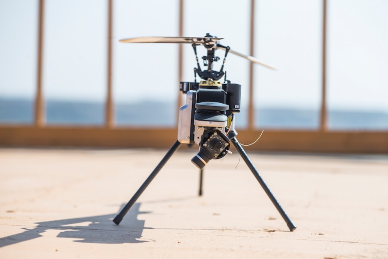 Lattice Modular Heli-Drone is displayed during a test run of the Lattice Platform Security System at the Red Beach training area, Marine Corps Base Camp Pendleton, Calif.