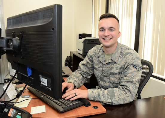 Airman 1st Class Johnny Cote is the 412th Test Wing Warrior of the Week. (U.S. Air Force photo by Kenji Thuloweit)