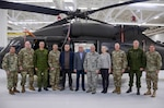 Lithuanian senior officials visited the Pennsylvania National Guard's Eastern Army National Guard Aviation Training Site (EAATS) Dec. 5, 2018. The delegation toured the Black Hawk Aircrew Trainer (BAT) simulation system, the Non-Rated Crewmember Manned Module (NCM3), and the Aviation Maintenance Instructional Building (AMIB).