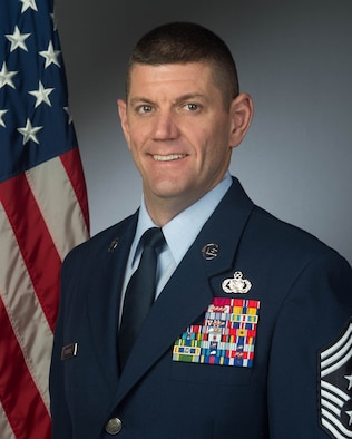 Chief Master Sgt. Derek Crowder 60th Air Mobility Wing command chief