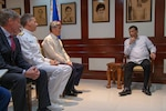 Admiral Philip Davidson, Commander of the U.S. Indo-Pacific Command (Indo-PACOM), U.S. Ambassador to the Philippines Sung Kim, and Deputy Assistant Secretary of Defense Joseph Felter meet with President Rodrigo Duterte.