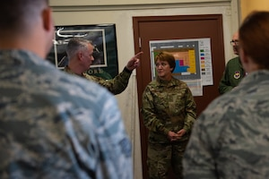 Lt. Gen. Dorothy Hogg, Air Force Surgeon General, receives an in-depth look at the Tactical Integrated Training and Nutrition (TITAN) Arena, Dec. 12, 2018, at Luke Air Force Base, Ariz.