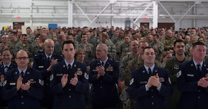 Members of the 133rd Airlift Wing attend the annual Wing Awards Ceremony in St. Paul, Minn., Dec. 8, 2018. The annual ceremony recognizes the outstanding