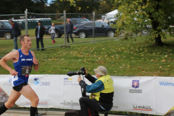 Air Force Fellow represents branch in Armed Forces Marathon Championships