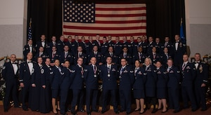 Airman Leadership School Class 19-A poses for a photo Dec. 13, 2018, at McConnell Air Force Base, Kansas. Each graduate was presented with a certificate from Col. Josh Olson, 22nd Air Refueling Wing commander.
