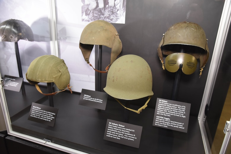 WWII bomber crew protection on display in the WWII Gallery at the National Museum of the USAF. (U.S.Air Force photo)