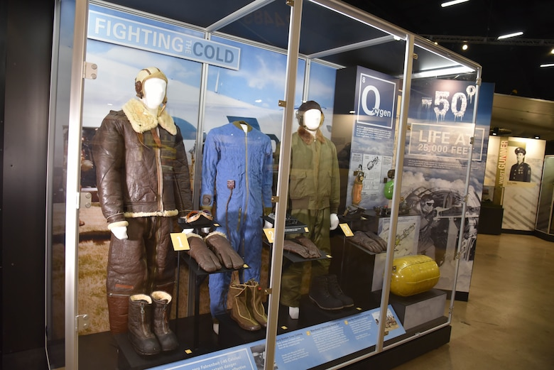 DAYTON, Ohio -- Crippling the Nazi War Machine: USAAF Strategic Bombing in Europe exhibit in the WWII Gallery at the National Museum of the U.S. Air Force. Fighting the cold artifacts.(U.S. Air Force photo)